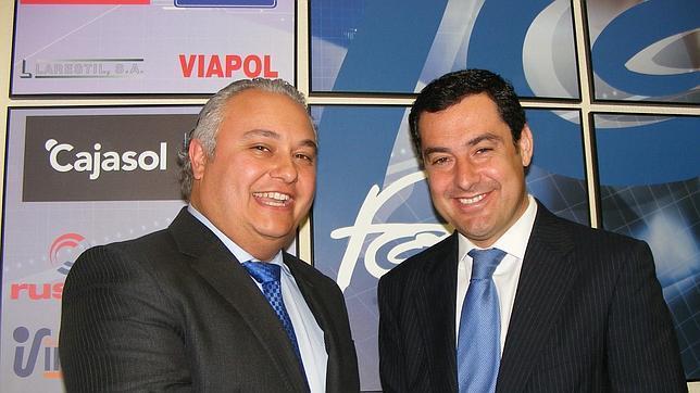 Domingo Villero y Juanma Moreno este lunes