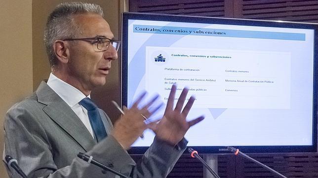 Miguel Angel Vázquez, en la presentación del portal de transparencia