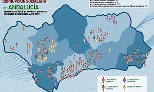 El PP presenta el «mapa de la corrupción socialista» en Andalucía