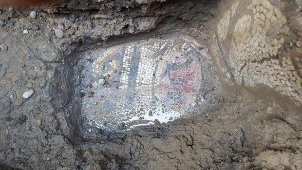 El mosaico descubierto en Cantillana