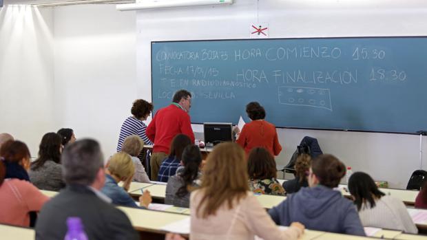Examen de oposiciones del Servicio andaluz de Salud