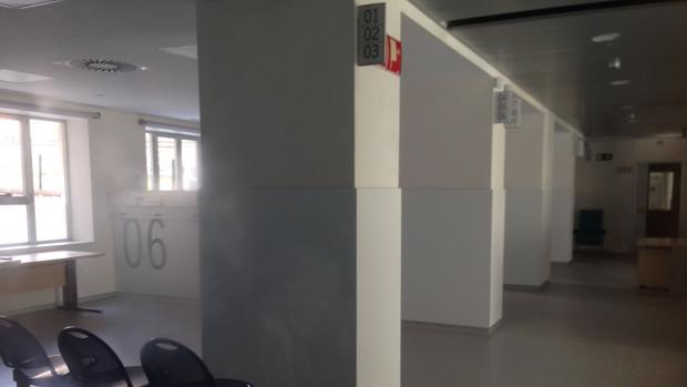 Área de Urgencias recién rehabilitadas del Regional de Málaga, nuevas pero aún cerradas
