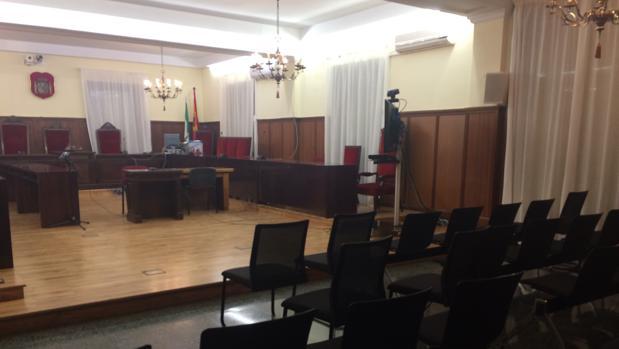 Las sala de la Audiencia donde se celebrará el juicio de los ERE