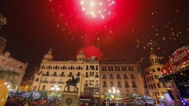 Celebración del Fin de Año en la plaza de Las Tendillas