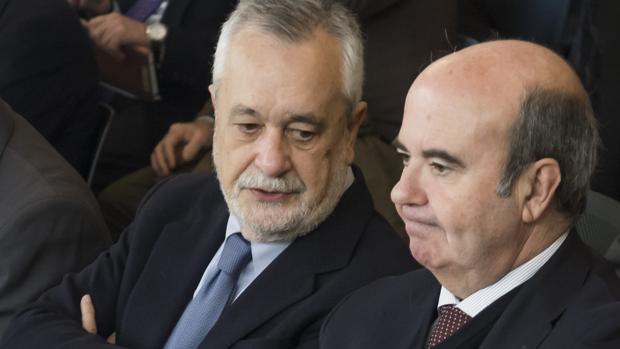 José Antonio Griñán y Gaspar Zarrías, este miércoles en el juicio por los Ere