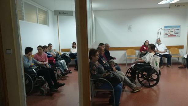 Sala de espera de las urgencias del Hospital de Úbeda donde el 21 de diciembre falleció una señora tras doce horas de espera