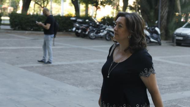 Mar Moreno a su llegada a la Audiencia Provincial de Sevilla