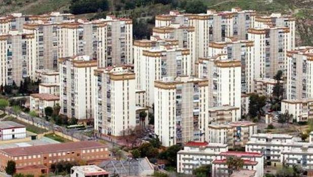 Vista de los bloques de la barriada de La Palmilla en Málaga
