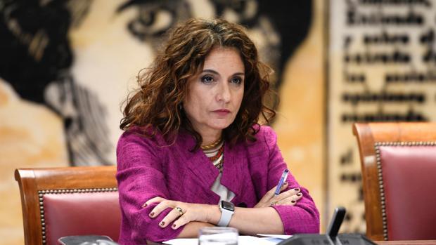 La ministra de Hacienda, María Jesús Montero, durante una comparecencia en el Senado