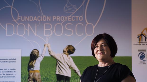 Toñi Moriana en la sede de la Fundación Don Bosco