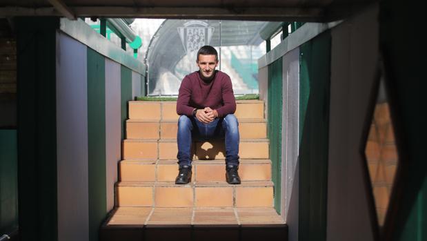 El atacante serbio del Córdoba, Sasa Jovanovic, el martes, en el estadio