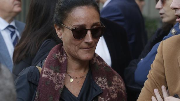 La juez Núñez Bolaños, este lunes en la concentración de jueces y fiscales en Sevilla