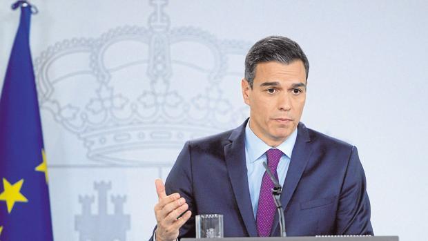 Pedro Sánchez durante una rueda de prensa