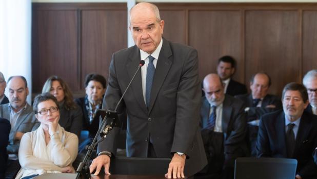 El expresidente de la Junta de Andalucía Manuel Chaves, en el juicio del caso ERE
