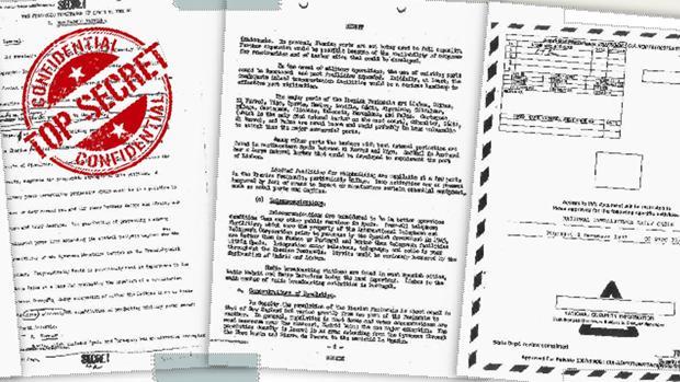 Parte de la documentación de la CIA