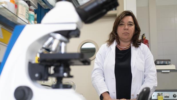 Salud Serrano, en su laboratorio