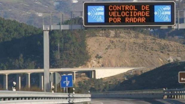 El conductor fue detectado por un radar