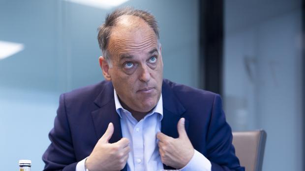 El presidente de LaLiga, Javier Tebas, en una entrevista con ABC