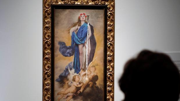 El cuadro de la Virgen ya deteriorado