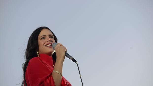 Rosalía durante un concierto en Madrid