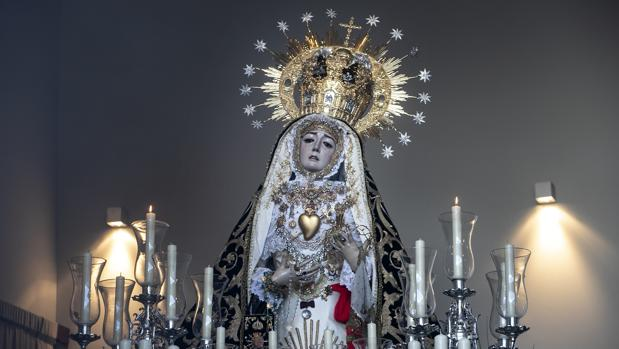 La Virgen de los Dolores, en su paso procesional