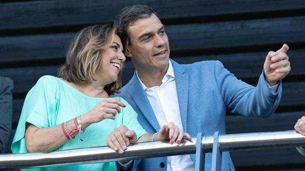 Susana Díaz y Pedro Sánchez, la pasada semana en Sevilla