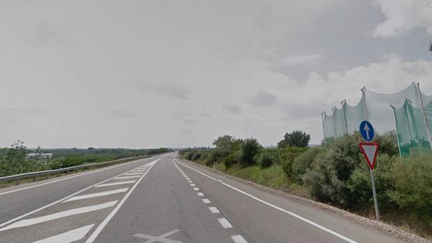Carretera A-453 en el término municipal de Palma