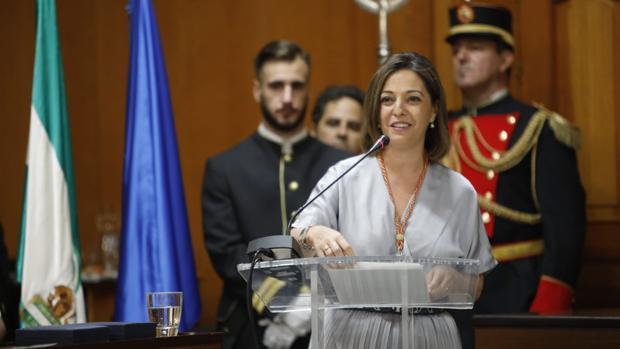 Isabel Ambrosio durante su intervención en el Pleno