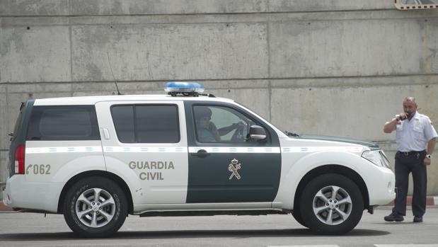 Un coche de la Guardia Civil durante una operación