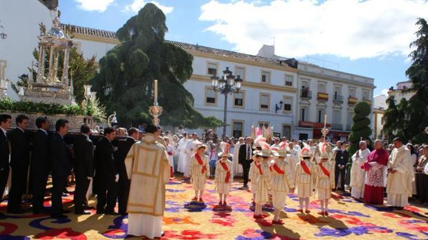 Celebración del Corpus en Priego