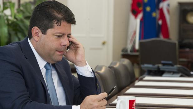 Fabian Picardo, en dependencias del Gobierno de Gibraltar, en una imagen de archivo