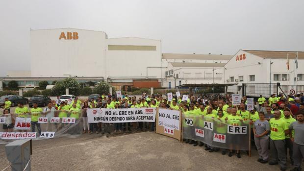 Concentración de ABB de esta mañana en Córdoba