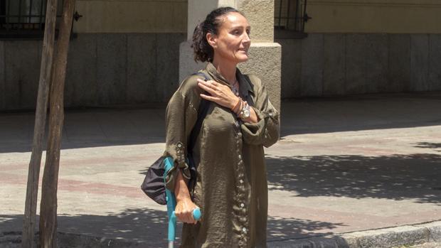 La juez María Núñez este martes a la salida del edificio de los juzgados