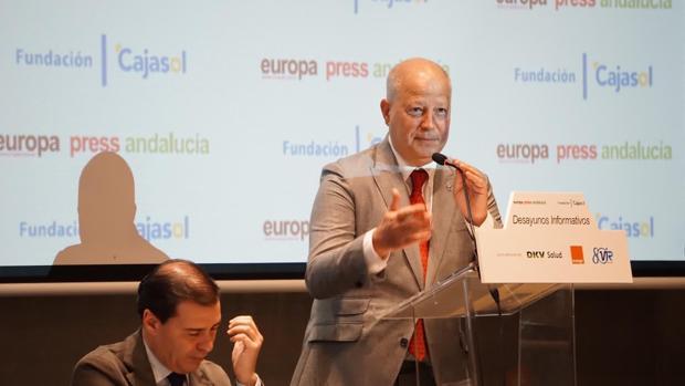 Javier Imbroda, durante su comparecencia de este viernes en Málaga