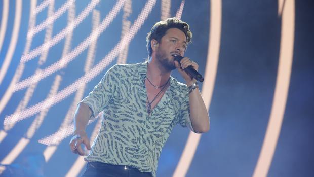 Manuel Carrasco, en un reciente concierto en Sevilla