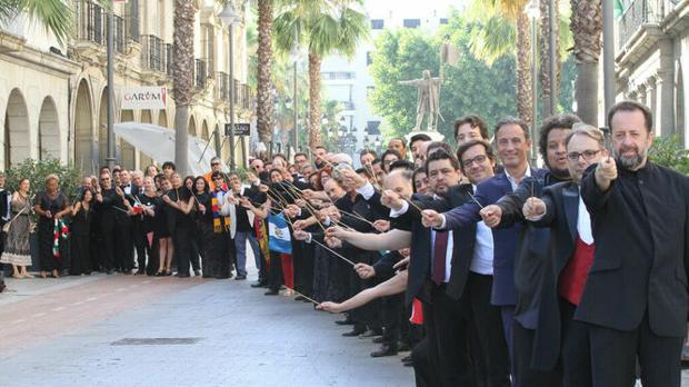 Imagen de los participantes de la I Cumbre Mundial de Directores de Orquesta celebrada el pasado año