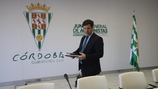 Jesús León en una comparecencia pública