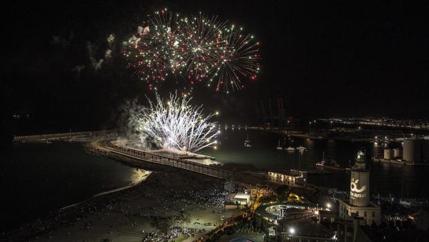 Fuegos artificiales en la Feria de Málaga