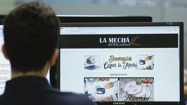 Página web de la empresa cárnica que ha sido clausurada