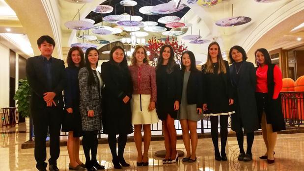 Parte del equipo de Smartwoks con miembros de Huawei en Shenzhen.