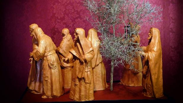 Boceto del paso del misterio del Beso de Judas