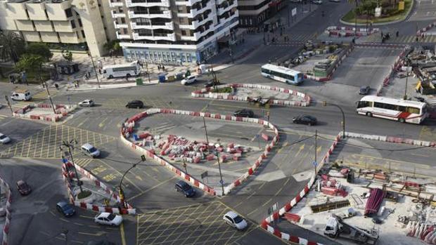 Las obras del metro afectan a la avenida de Andalucía desde hace una década