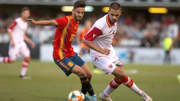 El excordobesista Andrés Martín, con la camiseta de España sub 21