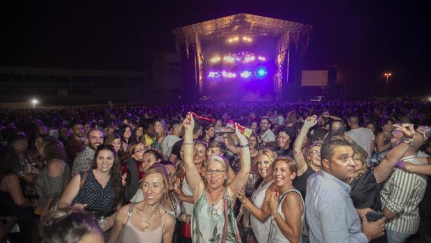 Público asistente al concierto de Ricky Martin en el Arenal en septiembre de 2018