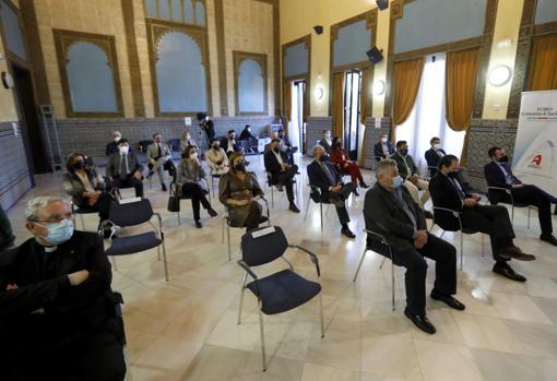 Imagen del público asistente al foro celebrado ayer por Asfaco