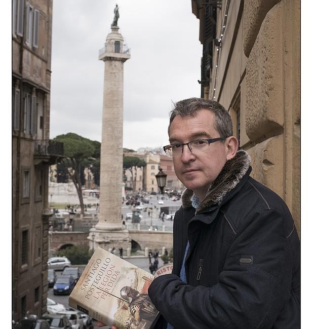 Santiago Posteguillo, fotografiado en Roma