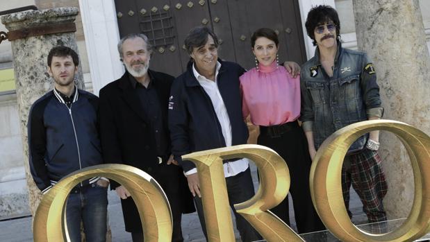 Raúl Arévalo, José Coronado, Agustín Díaz Yanes, Bárbara Lennie y Óscar Jaenada