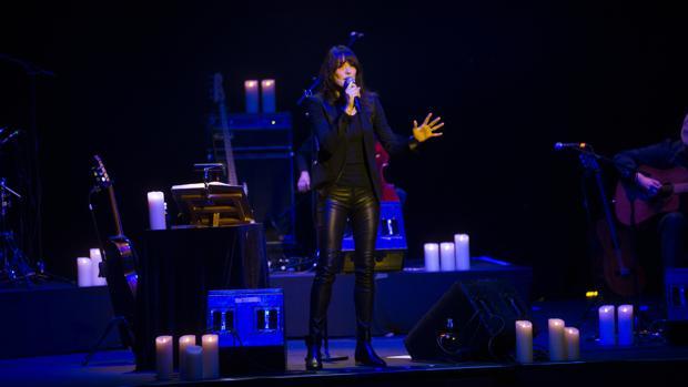 La cantante Carla Bruni, en la noche del miércoles, durante su concierto en Madrid