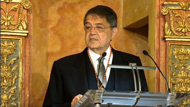 Sergio Ramírez en la ceremonia de entrega del Cervantes