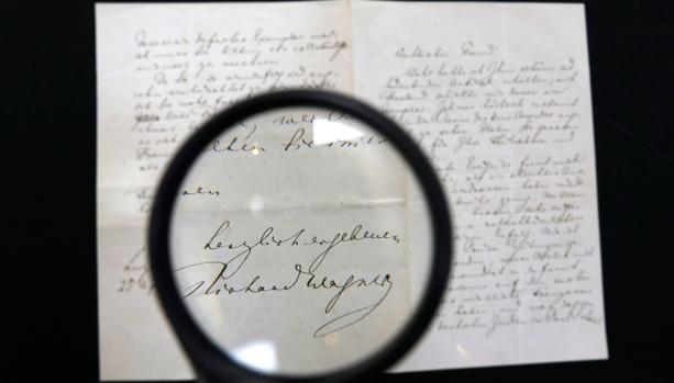 La carta antisemita del compositor Richard Wagner se expone en la casa de subastas